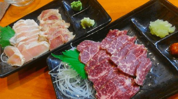 福岡グルメ牛刺