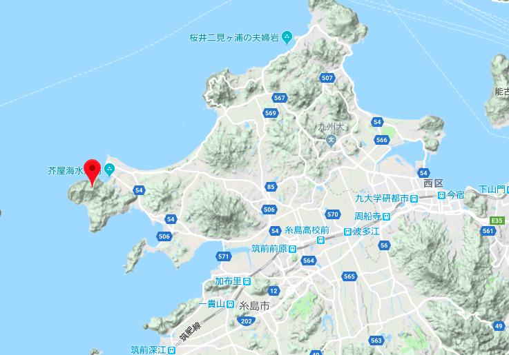 糸島の立石山の周辺地図