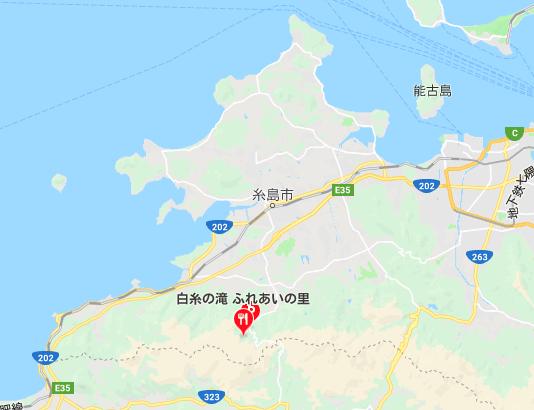 糸島の白糸の滝のアクセスと駐車場