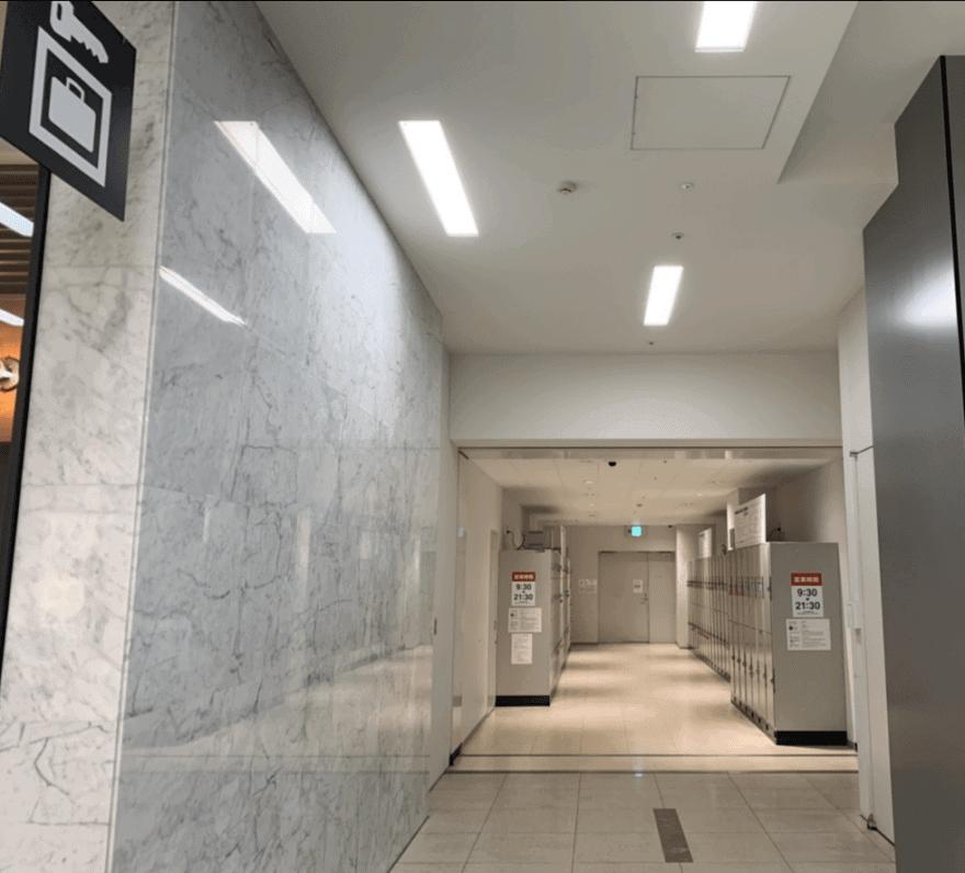 博多駅博多シティ3Fのコインロッカー