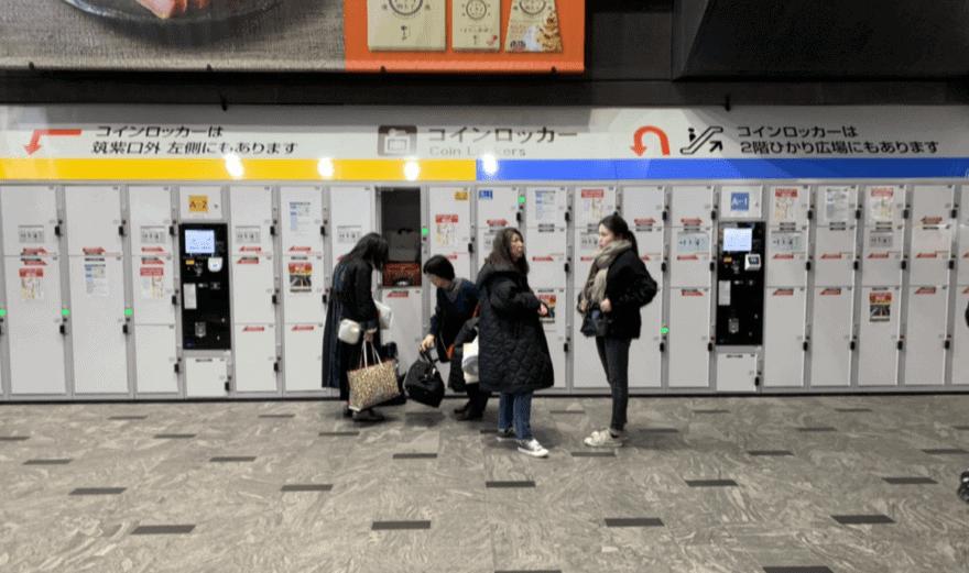 博多駅筑紫口のコインロッカー