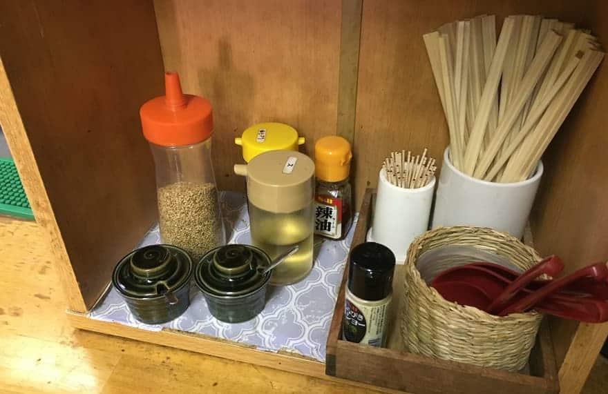 入船食堂の卓上調味料