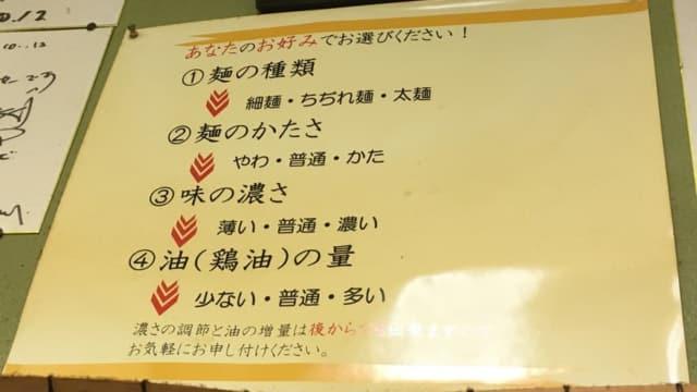入船食堂のラーメン注文方法