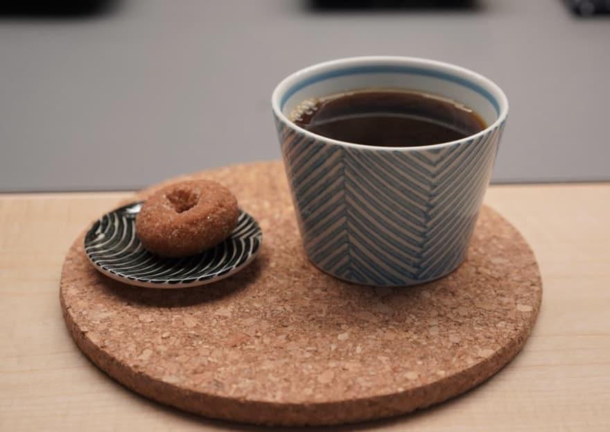 コーヒー屋台のコーヒー